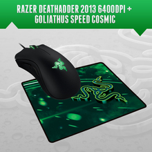 Razer Deathadder 2013, 6400 DPI Gaming Mouse + Razer Goliathus Speed Cosmic Edition Mousepad 270mm x 215mm x 3mm, Free Shipping