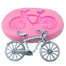 2017 New Cake Decorating Tools Bicycle Shape 3D Silicone Fondant Mould Cake Cupcake Mold Design Chocolate Mould Bake Ware
