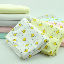 New arrival 50cm x190cm width high quality cotton knitted fabric Printed baby cartoon bedding making cotton fabric