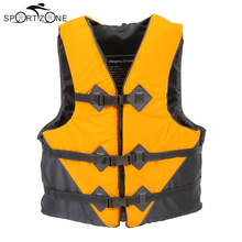 Lixada Durable L-XXL Sizes Polyester Adult Life Jacket Universal Water Fishing Swimming Boating Ski Drifting Vest with Whistle