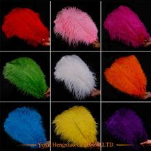 beautiful! 10pcs/lot Natural white Ostrich Feather 35-40cm Colorful Feather Decoration Wedding DIY Feathers