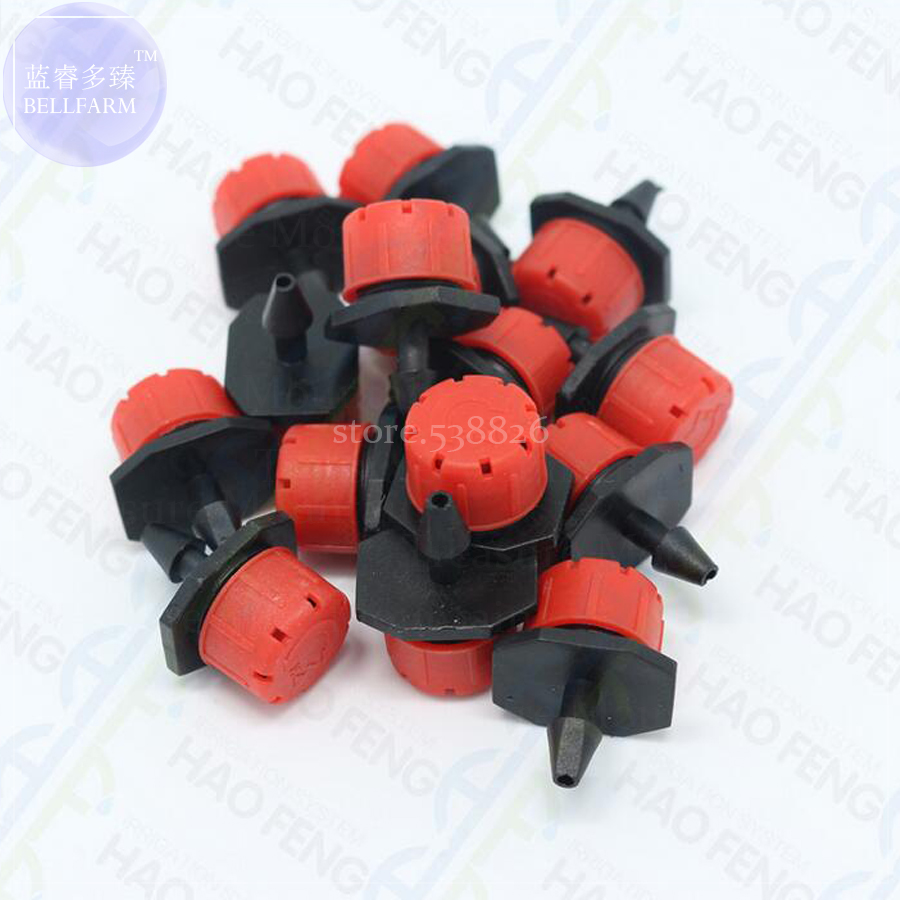 30pcs 360-degree Adjustable Sprinkler Garden Irrigation Misting Micro Flow Dripper Drip Head 1/4