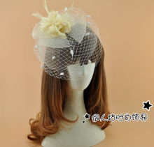 Cute Party Bridal Hats Mesh Dot Feather Flower Bow Fascinator Hats Wedding Hat Veils Wedding Bridal Birdcage Veil For Sale UK