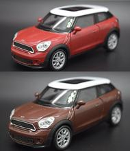Candice guo alloy car model mini cooper S paceman vehicle motor pull back baby birthday gift christmas present 1pc