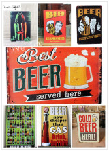 [Live Wall Art] HOT vintage Pub Sign BEST BEER Theme Bar decor Size 20x30CM
