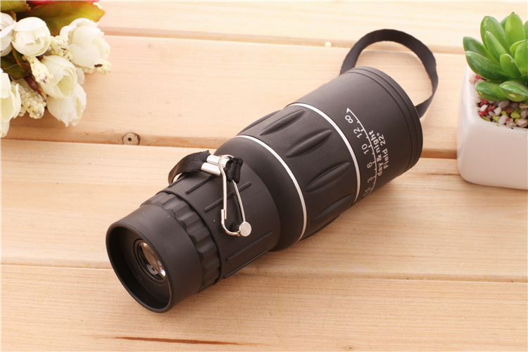 16X52 HD Portable Dual Focus Zoom Monocular High Power Optical Lenses Telescope Spotting Scope for Outdoor Camping Travelling 17