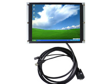 10.4 inch 4:3 open frame touch monitor for machine,metal case usb touch screen monitor.VGA input monitor
