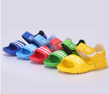 2017 Special Offer Unisex Polyester Flat With Cone Heels Soft Rubber New And Children Sandals Non Slip Wear Small Casual Shoes(China)