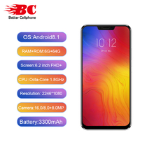 Buy Lenovo Z5 fingerprint Face-ID SmartPhone Snapdragon 636 Octa-Core 1.8Ghz Dual Rear Camera 16MP+8MP 6GB RAM+64GB ROM OTG 3300mAh for $238.88 in AliExpress store