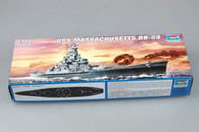trumpeter 1/700 05761  USS Massachusetts (BB-59)  Assembly Model kits building scale model ship 3D puzzle ship