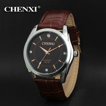 2018 Men Business Watches CHENXI Brand leather quartz l Watch Outdoor Dress Wristwatches Military Watch relogios masculinos(China)
