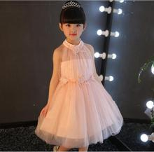 Princess Dress Wedding Pageant Lace Flower Little Girl Wedding Dress Elegant Cute Children Dresses High-grade Kids Clothing