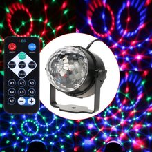 Aimbinet 7 Color LED Crystal Magic Ball 3W Mini RGB Stage Lighting Effect Party Disco Club DJ Light Show with remote control(China)