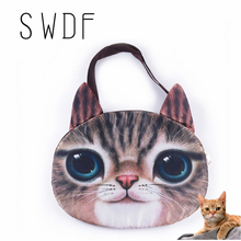 Cat 3D Crazy Sale! 2016 New Designed Spring Women Shoulder Bag Cat Shape Women Handbag Fashion Retro Women Bag Sling Bag cat bag