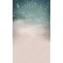 5x7FT Snowflakes Sky Pine Forest Ice Field Colors Lights Band Custom Photo Studio Backdrop Background Vinyl 220cm x 150cm