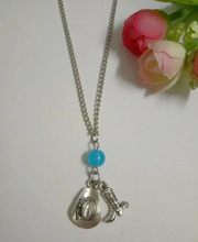 New Fashion Vintage Silver Summer style Mini Cowboy Boots&Hat Mixed Beads Pendant Necklace Jewelry Gift