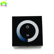 2.4G DC12V Glass Touch Panel Led Strip RF Controller Wall Sticker For Home Light 3528 2835 5050 Red blue green white warm white