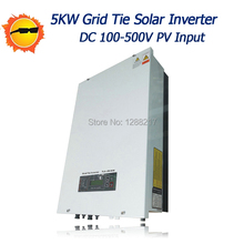 MPPT PV Grid Tie Inverter 5000W/5KW Connected Grid Inverter with AC230/110V Output Pure sine Wave Inverter(China)