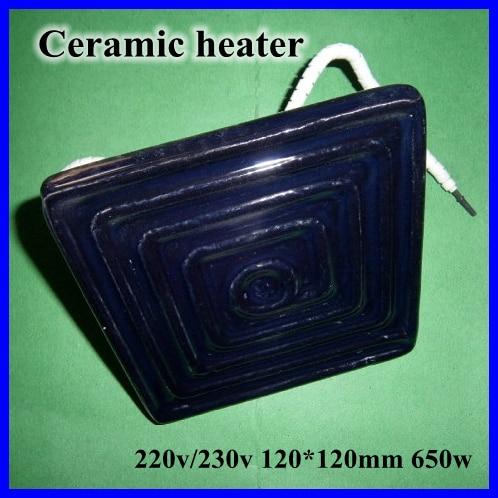 Ceramic Heater Board 120*120MM 220V/230V 650W Black Flat Top Upper Infrared Ceramic Heating Plate For BGA Station heater heating<br>