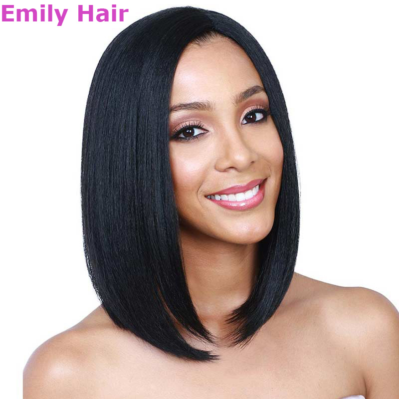 Female Bob Wig Jenner Short Black Hair  14inch Synthetic Wigs for Black Women Drag Queen Black Straight Hair Natural Hair Wig<br><br>Aliexpress