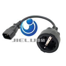 UPS/PDU Power Lead, IEC 320 C14 to CEE 7/7 European Female Schuko Socket Adapter Cable,10 pcs(China)