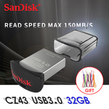 Original Sandisk 32GB Tiny Usb 3.0 Flash Disk Drive Micro Pen Drive Cheap Mini Usb Key Memory Support Official Verification