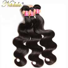 Nadula Hair Extensions Indian Body Wave Hair Weaves 100% Human Hair Products Non Remy Hair Natural Color Can Mix Bundles(China)