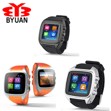 X01 3G WIFI bluetooth cheap smart watch electronics MTK 6572 Dual core sim card Android 4.4 Relogio Bluetooth GPS Smartwatch(China)
