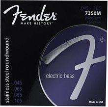 Fender 7350 Stainless Steel Roundwound Long Scale Electric Bass Guitar Strings, 7350M 7350ML