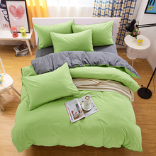 Bedding Pure fruit green gray aloe cotton home Satin Mask Set King Bed 4Pc bedspread bed sheets pillowcase Bed linen quilt cover