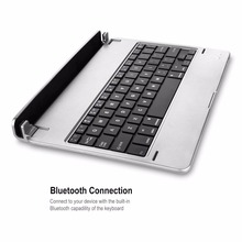 Professional Ultra Slim Wireless Bluetooth Card Slot Type Keyboard Aluminum Keyboard For IOS For IPad Pro In stock!
