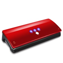 Brand New Automatic Electric food vacuum sealer machine and give as a present 16pcs vacuum bags Red 100-240V