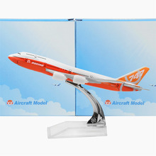 New Boeing 747 Painting 16cm Model Airplane Kits Child Birthday Gift Plane Toys Free Shipping Christmas Gift(China)