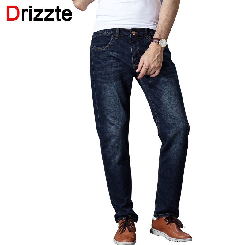 Drizzte Mens Jeans High Stretch Tapered Jeans Slim Denim Jean Trousers Pants Plus Size 32 33 34 35 36 38 40 42 44 46 JeanОдежда и ак�е��уары<br><br><br>Aliexpress