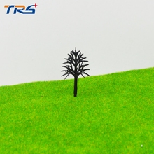 architectural model making tree model 4-10cm plastic tree arm miniature model tree for sand table layout(China)