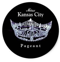 1.5inch Miss America style Pageant Crown Sticker