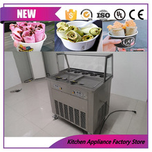 110V/220V separately control cold stone liquid nitrogen roller ice cream machine for sale(China)