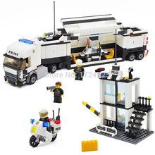 Kazi 6727 City Police Truck Station Building Block Sets 511pcs Educational Bricks Toys Classic Children Toy Free Shipping
