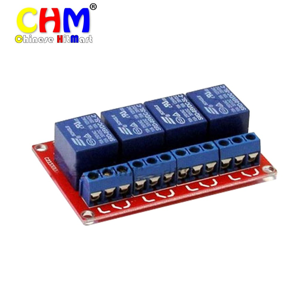 Free 3PCS/LOT 5V 4-Channel Relay Module Shield Arduino ARM PIC AVR DSP Electronic 5V 4-Channel Relay module #J214