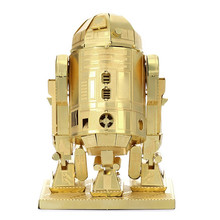 3D Metal Model R2-D2 Robot Golden Star Wars 3D Puzzle Wholesale Price Brass Etching Children's Gifts Make DIY