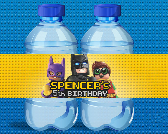 Personalized Lego Batman Water Bottle Labels,wrappers,Baby Shower, Superman Birthday party decorations kids,Party supplies(China (Mainland))