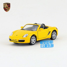 Free Shipping/1:34 Scale/Boxster S convertible/Education Model/Classical Pull back Diecast Metal toy car/Collection/Kid's Gift