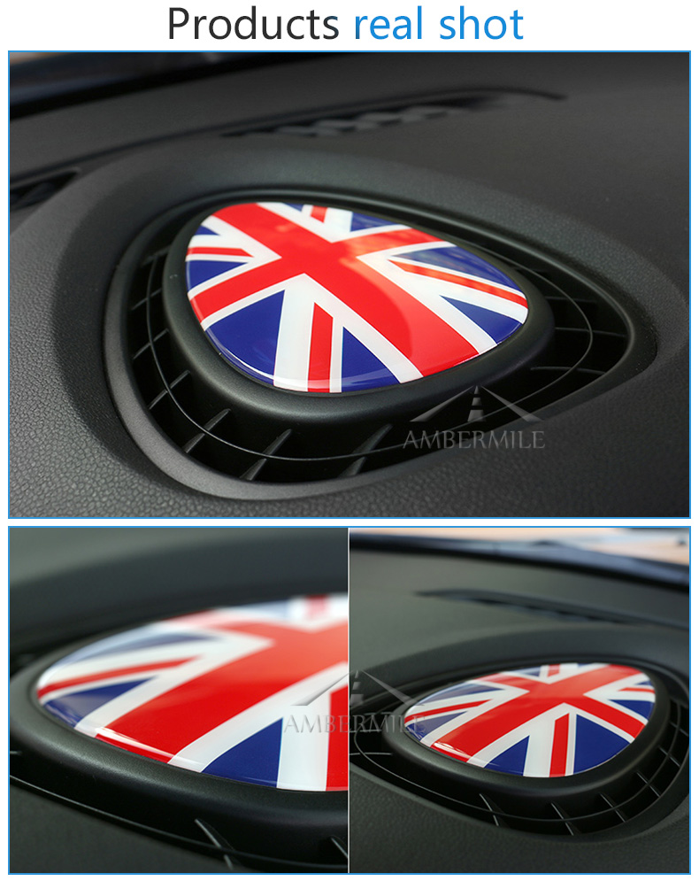 3D Crystal Epoxy Car Console Air Outlet Vent Cover Sticker for Mini Cooper JCW One F56 F55 F54 Accessories Car Styling (4)