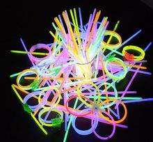 100pcs/lot Christmas Party Concert Supplies Fluorescent Bracelets Glow Sticks Wedding Party Decoration Night Light Sticks(China)
