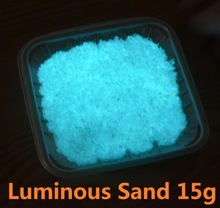 15g Luminous Glow Sand Super Bright Noctilucent Powder Sand Model Decor Micro Landscape Decoration Home Garden DIY Accessories