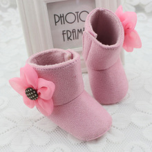Cute Baby Girl Winter Warm Booties Crib Shoes Toddler Kids Prewalker First Walker 3 Color