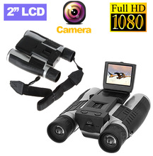 "DHL Free Shipping 2"" FHD Digital Camera Binoculars 12x32 Video Recorder Camcorder LCD Telescope For Watching,Hunting and Spying"