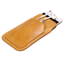 Pure Genuine Cow Leather Bag Sleeve Case for iPhone 6/6s 4.7with front Card slot(China)