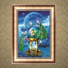 5D Diamond Embroidery Peacock DIY Craft Painting Cross Stitch Mosaic Home Decor MAR14_45