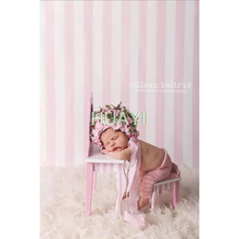 5x7FT Lovely pink and white strips newborn Vinyl Photography Background Customized Backdrops for Photo Studios